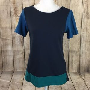Zara collection color block top blouse size M